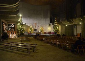 Elbląg: Pasterka w nowym kościele 2012